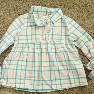 Carter's little girls plaid shirt 3t
